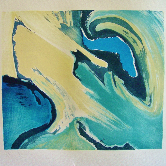 steendruk - geen titel 35 x 41 cm