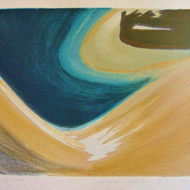 steendruk - geen titel 35 x 43 cm