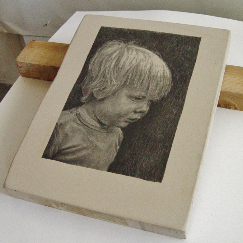 lithosteen portret 37 x 28 cm